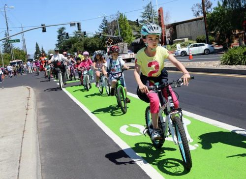 Marked Bike Lane - Green pavement